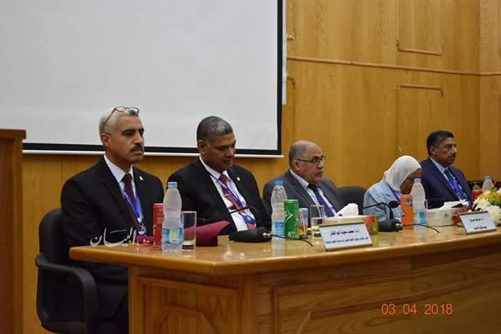 """علوم الفيوم تفتتح المؤتمر الدولي""""العلوم الأساسية والتطبيقات البيئية"""" وتكرم نقيب العلميين"""