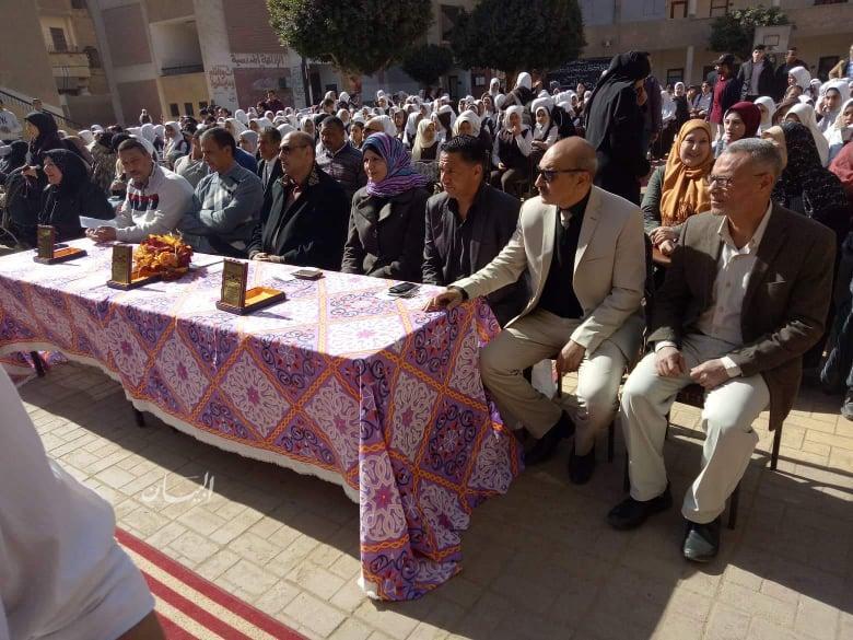 تكريم الطالبات المتفوقات فى مدرسة ام المؤمنين الإعدادية بمركز مغاغة بالمنيا