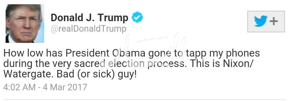 ترامب يتهم اوباوما