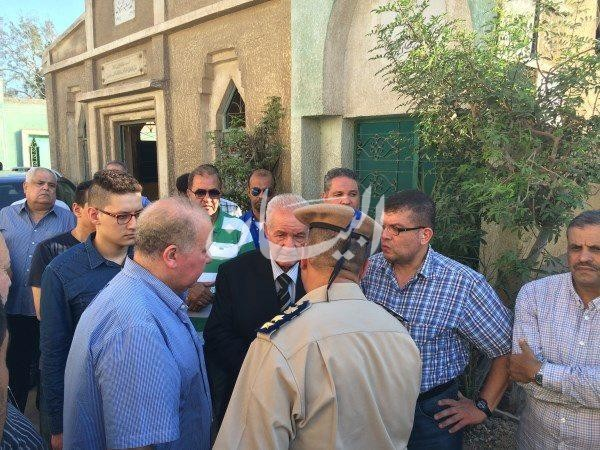 محافظ الدقهليه مع مشيعى جنازة نائب مامور قسم ثان العريش