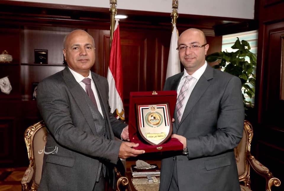 محافظ بني سويف يكرم وكيل وزارة الصحة بالغربية   جريدة البيان