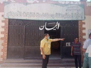 الحفناوى يقوم بالمرور على اداره الامراض المتوطنه واستقبال الباطنه