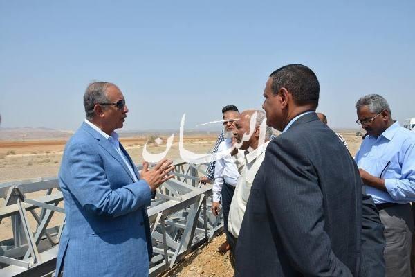 جانب من زيارة محافظ البحر الأحمر لمدينة القصير