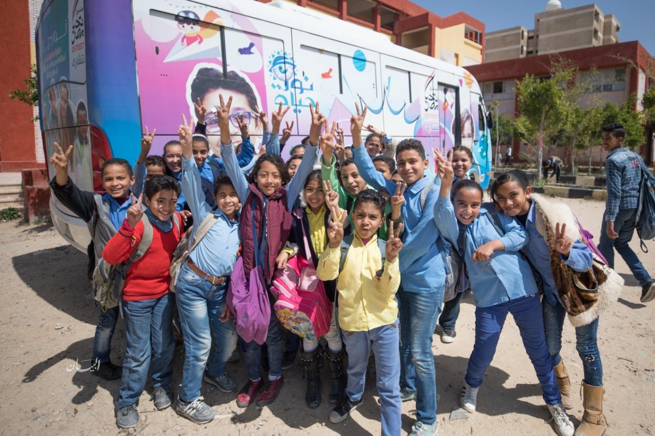 صندوق تحيا مصر : أجرينا الكشف الطبي على 450 ألف تلميذ ابتدائي ووفرنا 42 ألف نظارة طبية