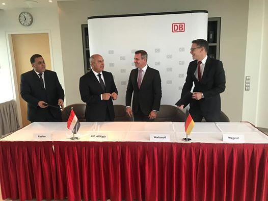 وزير النقل يشهد توقيع إتفاقية تعاون بين سكك حديد مصر و شركة سكك حديد ألمانيا