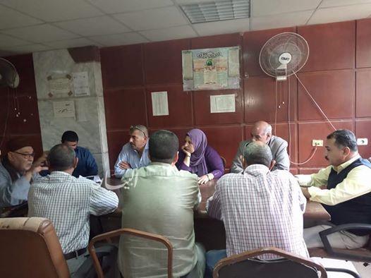 الجيزة :لقاء جماهيري بمدينة منشاة القناطر لمناقشة مشاكل المواطنين