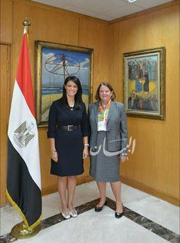 وزيرة السياحة تلتقي مسئولي البنك الأوروبي لإعادة الإعمار والتنمية