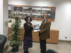 جولة لمسئول البرامج الثقافية بمكتب اليونسكو بالقاهرة فى المتحف القومى بالفسطاط .