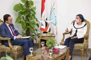 وزيرة البيئة تبحث مع السفير الفرنسي تعاون مصري فرنسي لدعم المبادرة الرئاسية المصرية