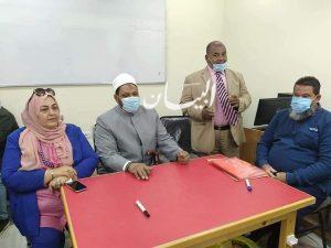 رئيس منطقة البحر الأحمر الأزهرية يتابع تدريب الأخصائيين الاجتماعيين بديوان عام المنطقة