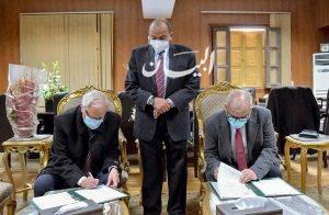 رئيس جامعة بني سويف توقيع بروتوكول تعاون بين وكالة الفضاء المصرية وكلية علوم الملاحة
