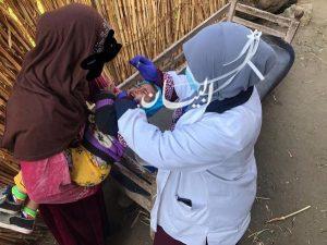 تطعيم 99 ألف طفل ضد شلل الأطفال في حملة الصحة بالبلينا بسوهاج