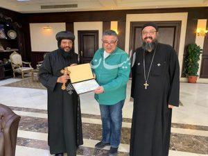 اللواء عمروحنفى : يستقبل الأنبا إيلاريون لتهنئة الأقباط بعيد القيامة المجيد