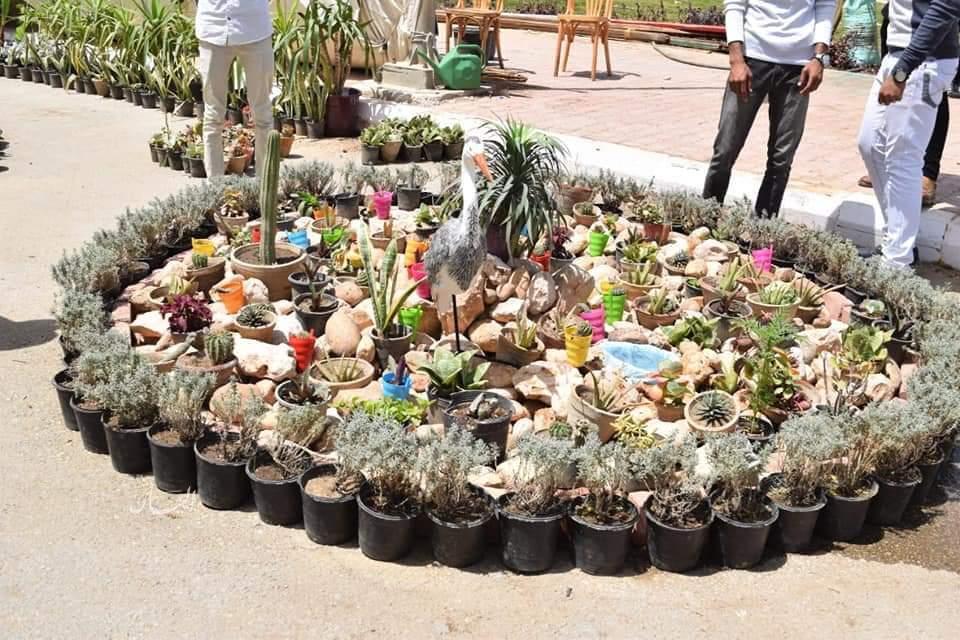إفتتاح المعرض السنوي الحادي عشر لنباتات الزينة بجامعة سوهاج