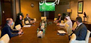 جامع تبحث مع ممثلي شركة دبي للاستثمار خطط الشركة لإنشاء مجمع استثماري متكامل