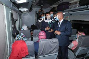 وزيرا النقل والشباب والرياضة يودعان المشاركين في الفوج الأول من قطار الشباب بمحطة مصر