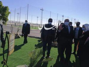 وزيرة التضامن الإجتماعي تتفقد حديقة ٣٠ يونيو بالوادى الجديد فى بدايه زياراتها للمحافظه