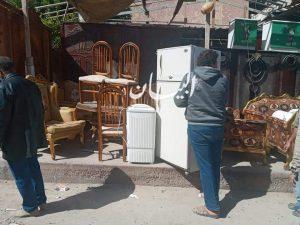 رئيس مدينة مرسي مطروح مصادرة والتحفظ علي الاثاث المستعمل بالمنطقة الطبية والعوام