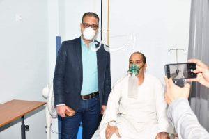 """محافظ الفيوم يزور مصابي """"كورونا"""" بمستشفيي الصدر والتأمين الصحي"""