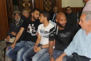 نجوم الكرة المصرية خلال تأدية واجب العزاء